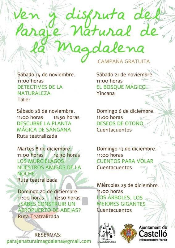 Actividades Paraje Natural Magdalena Cartel 2