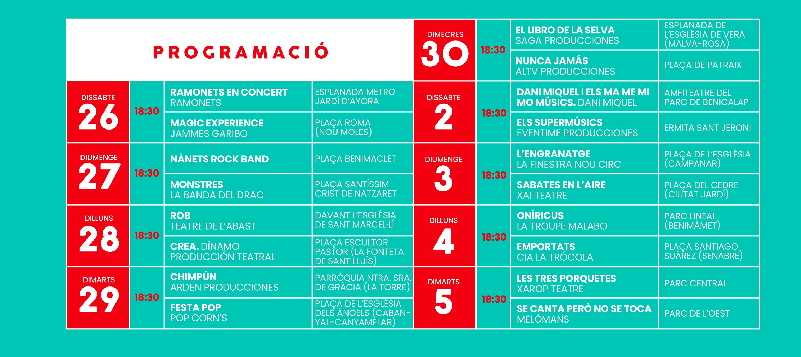 Toc Toc Navidad Barrio Valencia 2020 Programacion