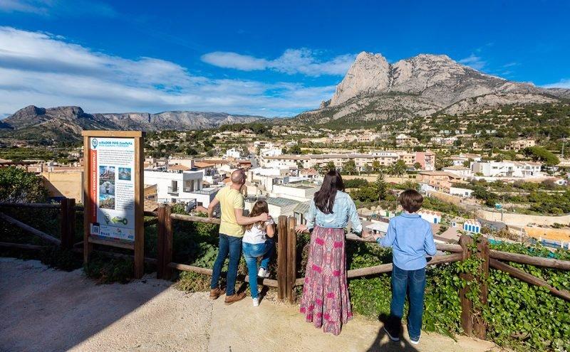 Mirador Ruta Descubre Finestrat Vistas Puig Campana